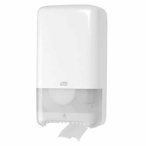 Tork Twin Mid-size Autoshift Toilet Roll Dispenser White T6